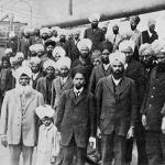 Passengers on the ill fated voyage of the Komagata Maru. 1914