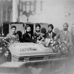 Sikhs at a funeral. Photographed 1920's, United States