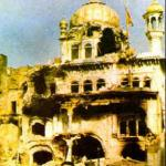 1984 Akal Takht (Golden Temple Attack by Indian Army).jpg