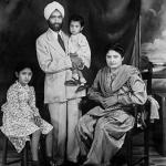 Sampuran Singh Gill and his family newly arrived in East Africa, Kenya 1948