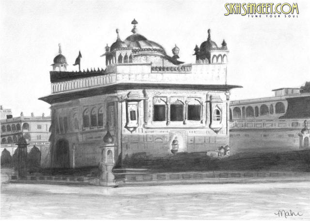 Golden Temple Drawing by Mahi