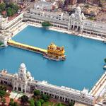 Golden Temple Aerial View by Helicopter