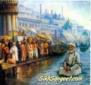 Kabir in Ganga