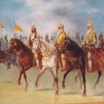 Maharaja Ranjit Singh and  Hari Singh Nalwa and  Sham Singh Atari