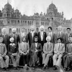 A group of students at Khalsa College Amritsar. Photographed 1952, Punjab