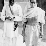 Harchand Singh Brar and wife Jaswant Kaur. Photographed early 1950's, Punjab
