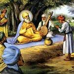 baba budha paying respect to guru nanak who gave title Baba Buddha