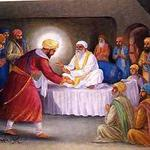 BabaBudha and Guru Hargobind in Ramdas village