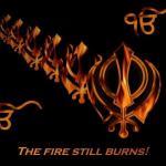 The fire still burns