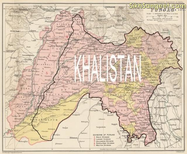 Map - Of - Khalistan