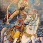 Guru gobind singh in the water