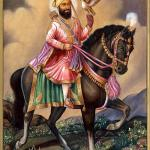 Guru gobind singh is riding horse