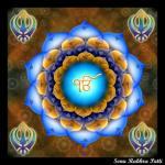 khanda and Ik onkar colorful