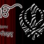 Ik onkar and khanda black and red