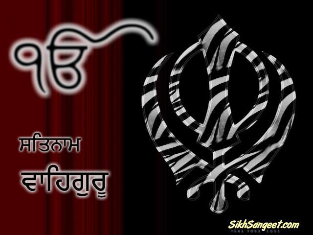 Ik onkar and khanda black and red