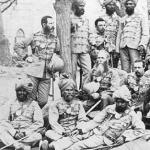 British and Sikh officers of the 26th Punjab Regiment, Bengal Native Infantry 1873