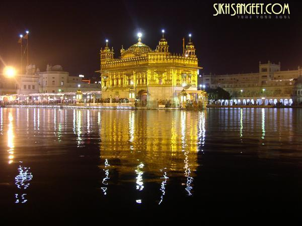 golden temple amritsar inside. Golden Temple at night