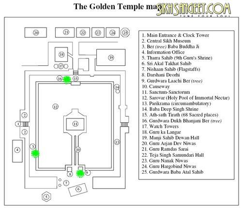 The Golden temple map
