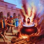 Guru Arjun Dev Ji boiled in hot water