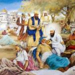 Guru Arjan Dev ji serves the lepers at Taran Taran