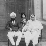 A Sikh Family. Photographed early 1900's, Punjab