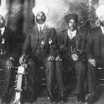 Ragis with traditional instruments.Photographed 1905, British Columbia