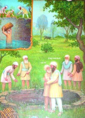 Bhai Manjh with Guru Arjan Dev ji