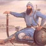 Banda  Singh Bahadur with swored