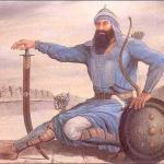 Banda  Singh Bahadur with swored