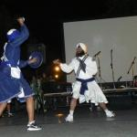 playing Gatka with sword