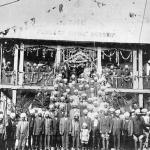Opening ceremonies of Sikh Gurdwara. Photographed 1912 Victoria, Canada